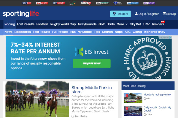 sporting life live betting shows