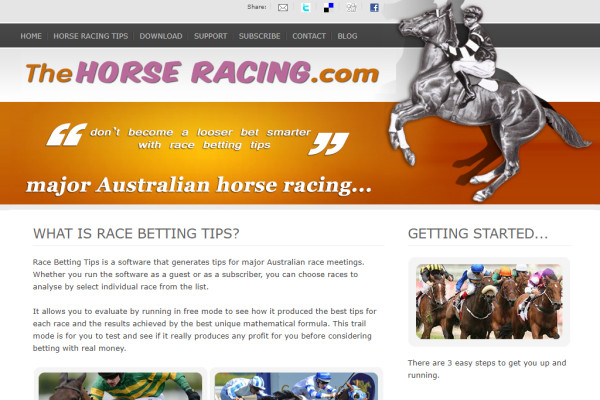Horse racing betting software australian carolina vs atlanta betting predictions football